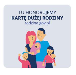 logo karty dużej rodziny przedstawiające rysunkowo rodzinę