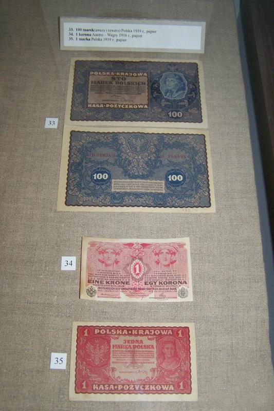 Cztery banknoty polskie z początku XX wieku