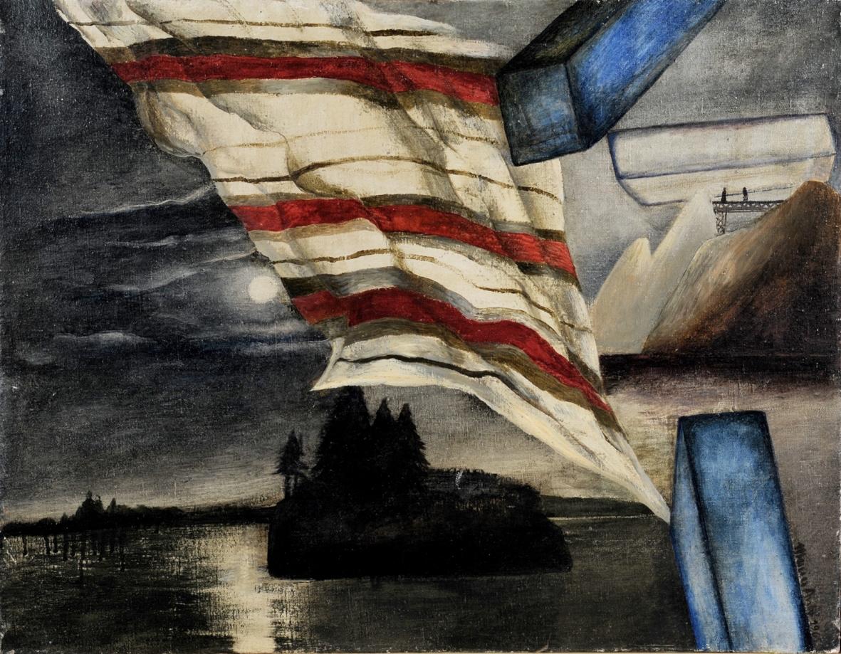 Księżyc i wyspa, 1969 r., olej, płótno, 70x89,5 cm, fot. Andrzej Ruciński