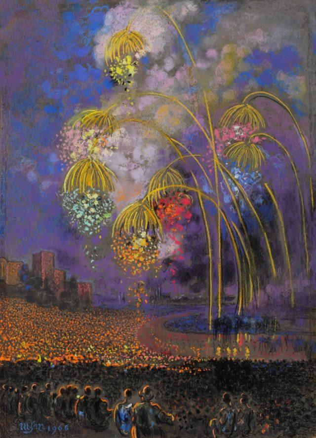 Wianki w nocy, 1966 r., pastel, papier, 98x71 cm, fot. Piotr Jaworek