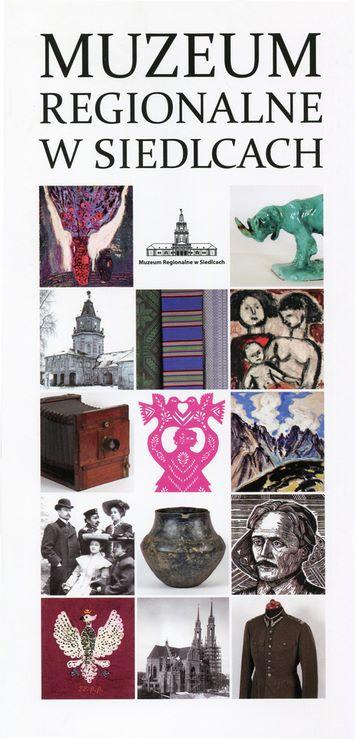 okładka kolorowego folderu Muzeum Regionalnego w   Siedlcach