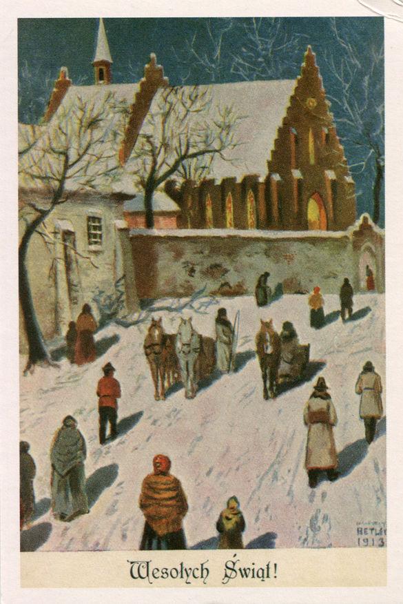 Reprodukcja przedwojennej pocztówki wydanej nakładem Księgarni J. Czerneckiego w Krakowie