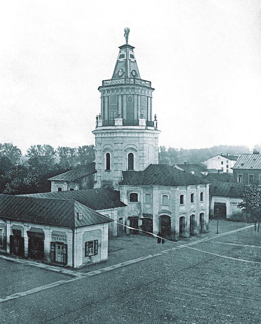 Archiwalne zdjęcie siedleckiego ratusza z początku XX w.