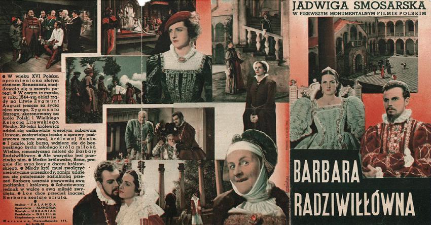 Barwna składana reklamowa z fotografiami różnych scen z filmu