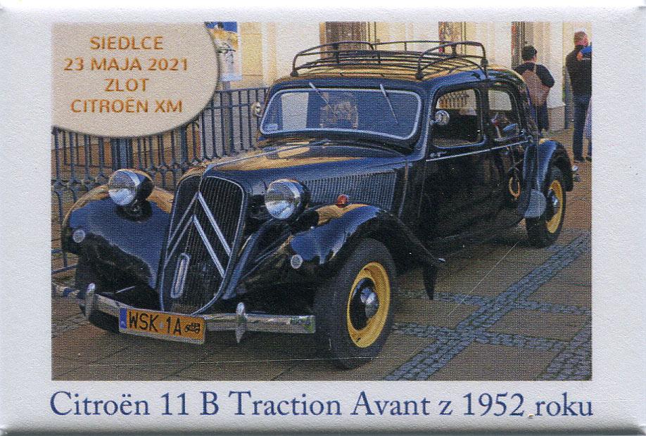 Czarny Citoren 11 B Traction Avant z 1952 r.