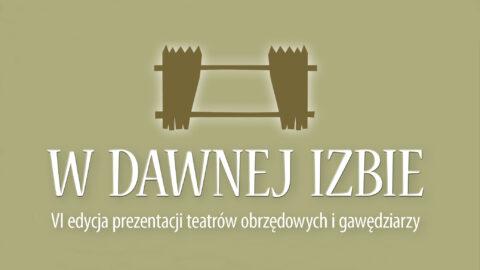 Motyw dekoracyjny imprezy w tonacji oliwkowej z przedstawieniem sztachet płotu rozsuniętych jak zasłonki